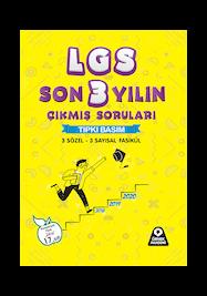 LGS Son 3 Yılın Çıkmış Soruları Tıpkı Basım